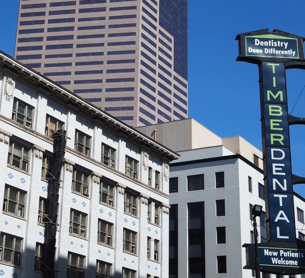 Timber Dental Downtown Sign
